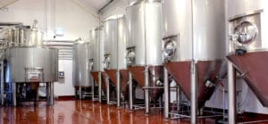 our beer brewing vats
